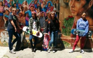 Skateboard Girls in the Mission District, San Francisco