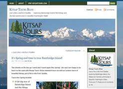 Kitsap Tours is a great example of a tour operator who is effectively using a blog to connect with customers.