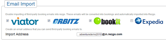 Resell tours through Orbitz and import booking emails into Rezgo