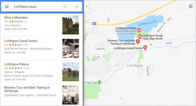 Google maps - reviews screenshot