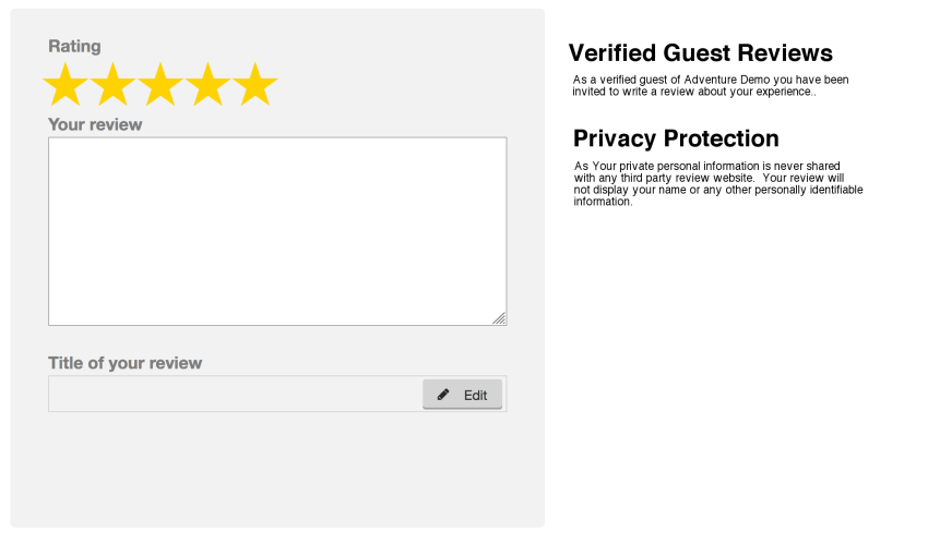Only verified guest reviews are submitted