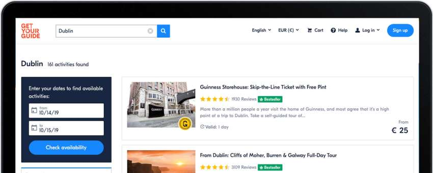 GetYourGuide is a leading tours and activities marketplace
