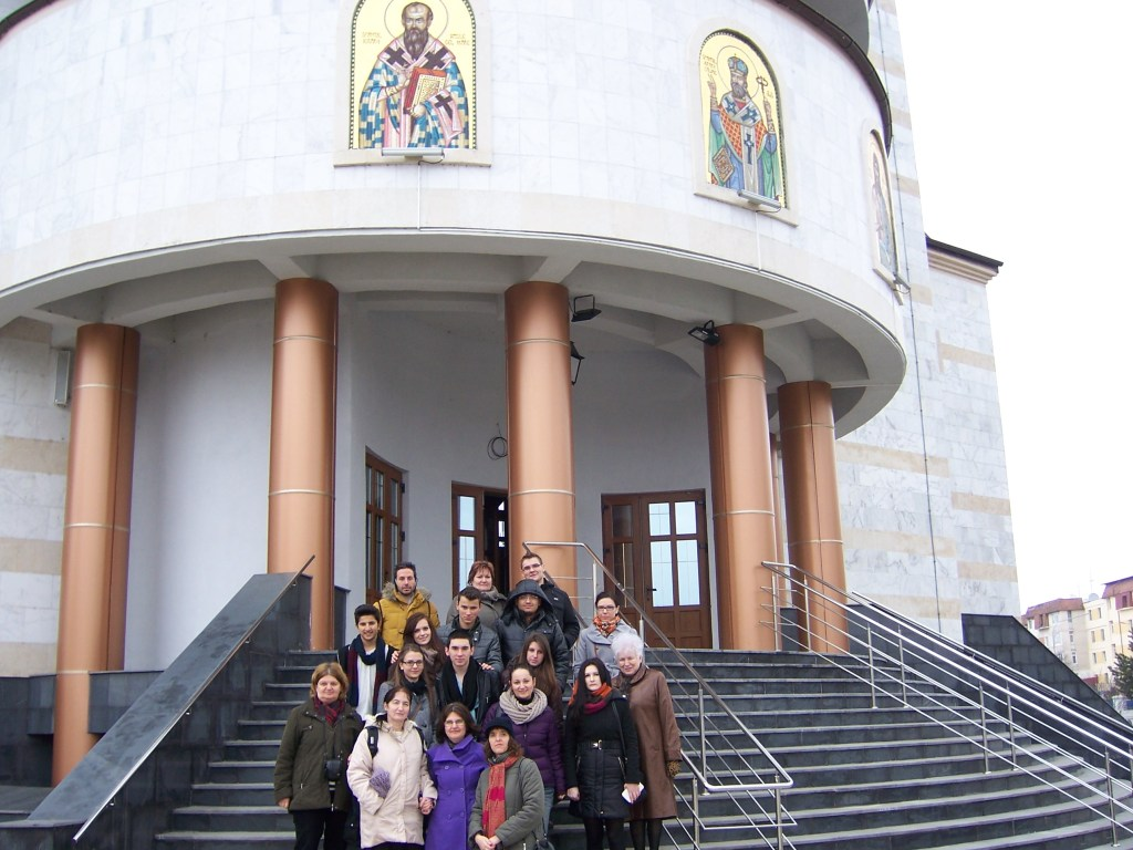 141 Visiting Mioveni church