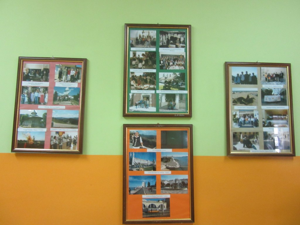 29. The walls are decorated with the activities of school