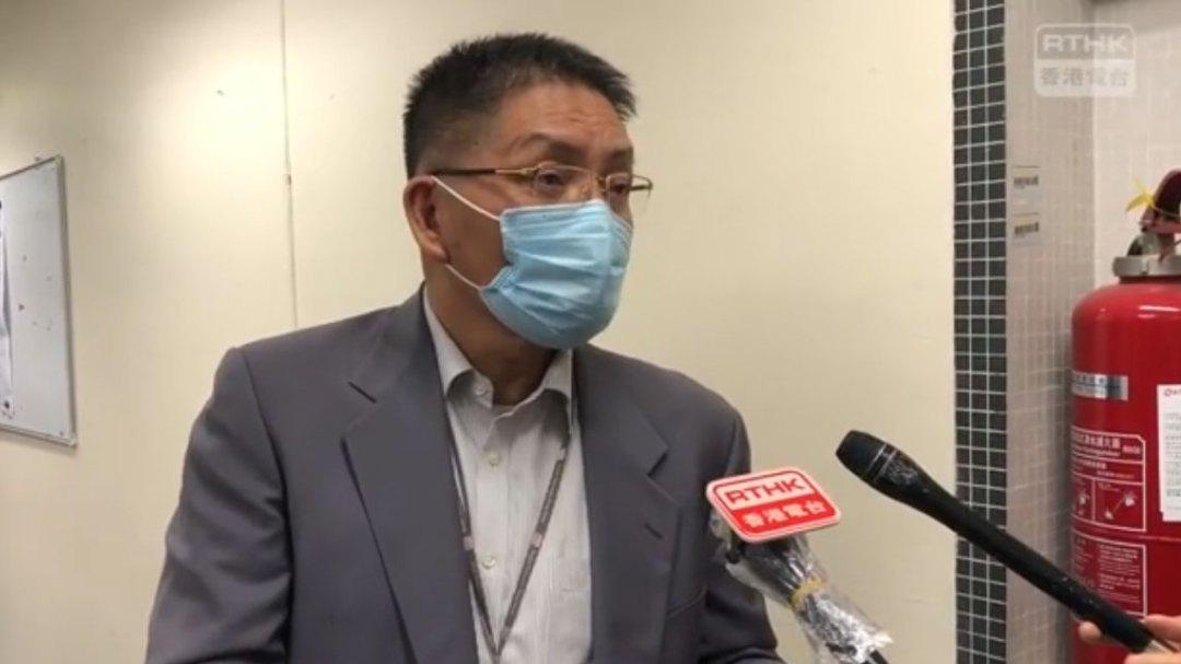 主管香港电台的广播处长梁家荣他形容事件罕见,关心同事被捕会否造成寒蝉效应。(视频截图/PTHK)