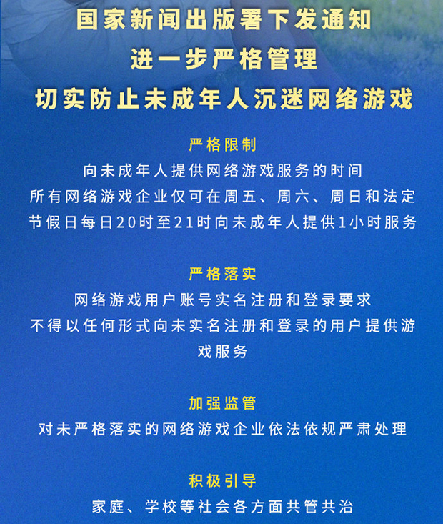 中国网游业迎来监管狂潮 未成年人每周只能玩三小时