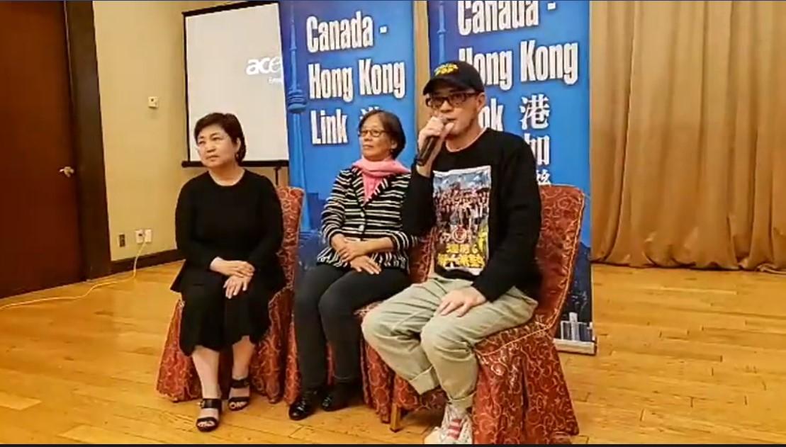 加拿大多倫多市長抵制中國 歌手黃耀明挺反送中