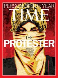 Tờ Times của Anh đã vinh danh Mohammed Bouazizi là Nhân Vật Của Năm 2011.  AFP