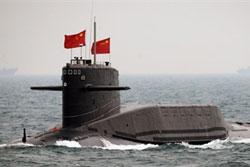 Tàu ngầm của Trung Quốc hoạt động trên biển Đông (2010). AFP