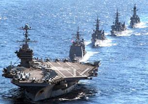 Hải quân Hoa Kỳ tập trận trên biển Đông năm 2010 ảnh minh họa.  AFP