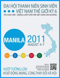 Flyer Đại hội Thanh niên Sinh viên Việt Nam Thế giới lần sáu. Source lenduong.net