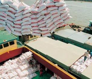 Gạo xuất khẩu. AFP