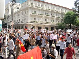 Biểu tình chống Trung Quốc ở Saigon ngày Chúa Nhật 5 tháng 6, 2011