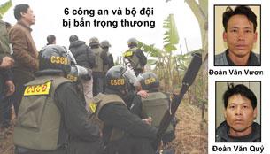 Hai anh Đoàn Văn Vươn và Đoàn Văn Quý.
