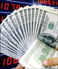Đồng đô la Mỹ. AFP PHOTO.