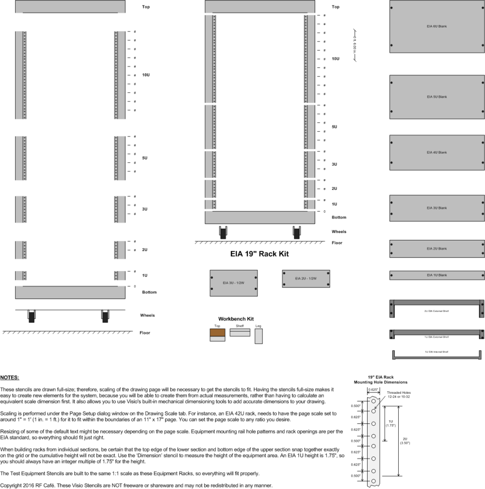 medium resolution of equipment racks eia visio stencils rf cafe