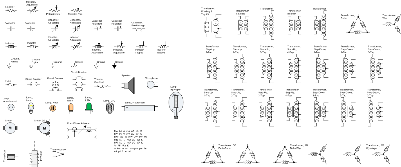 hight resolution of resistors capacitors inductors transformers visio stencils rf cafe