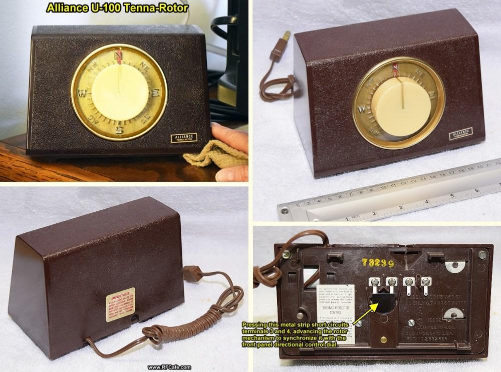 medium resolution of  vintage alliance u 100 tenna rotor control box rf cafe