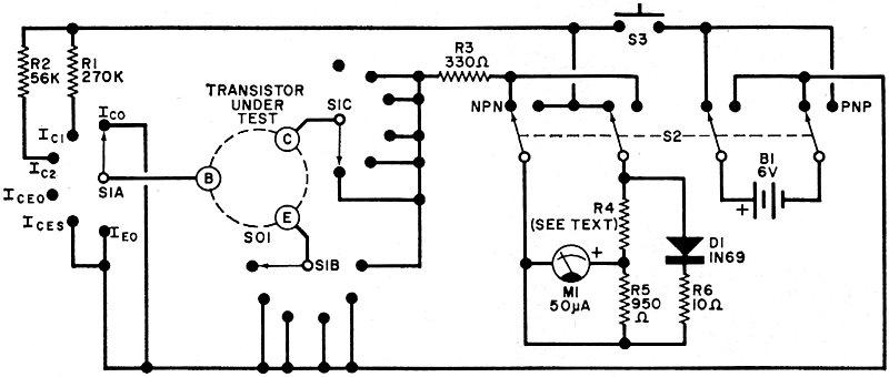 Non-Destructive Transistor Tester, March 1971 Popular
