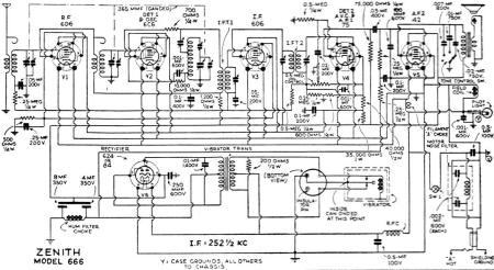 1940 Zenith Radio Schematic, 1940, Free Engine Image For