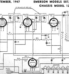 emerson models 507 509 518 522 535 chassis model 120005 schematic  [ 1200 x 692 Pixel ]