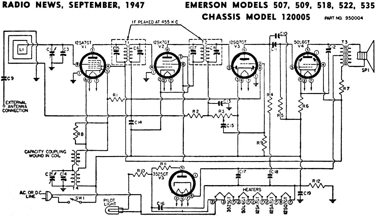hight resolution of emerson models 507 509 518 522 535 chassis model receiver wire diagram