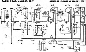 General Electric Model 280 Schematic & Parts List, August