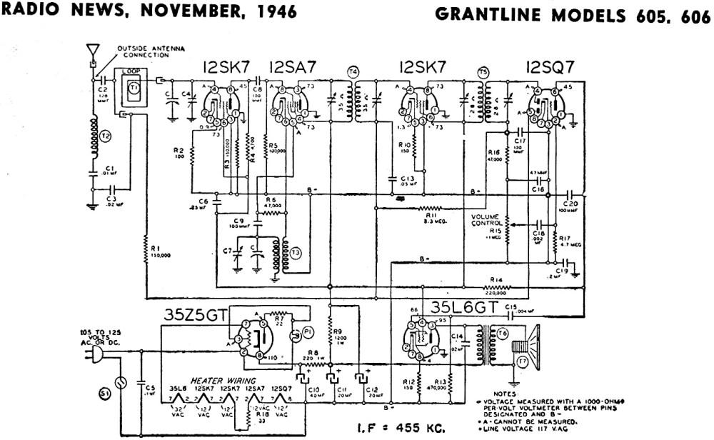 medium resolution of grantline models 605 606 schematic rf cafe