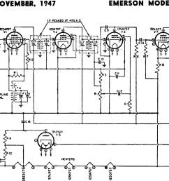 emerson radio schematics wiring diagram operations emerson models 501 502 504 schematic parts [ 1200 x 741 Pixel ]