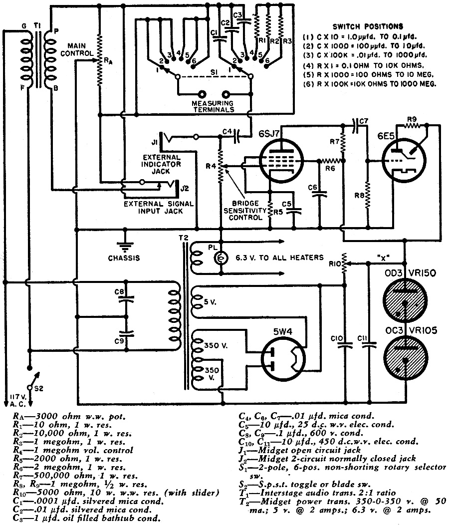 Build this Radioman's R-C Bridge, April 1947 Radio News