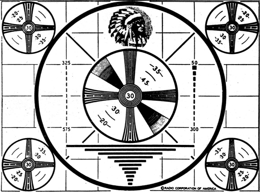 The Television Test Pattern, January 1949 Radio