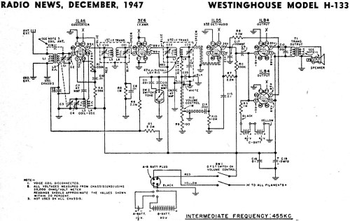 small resolution of schematics also antique radio schematics on vintage radio diagramswestinghouse model h 133 schematic u0026 parts