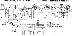 General Electric Model 250 Schematic & Parts List