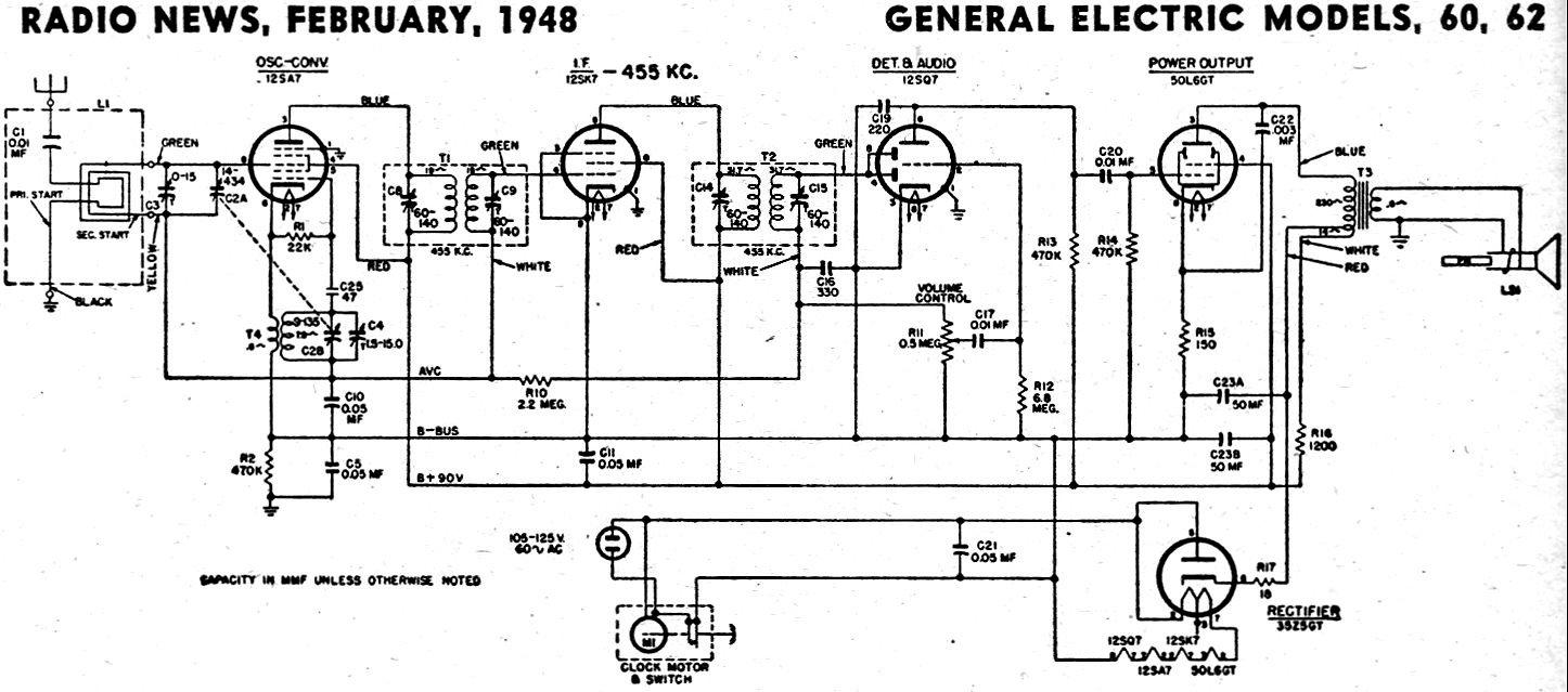 ge radio schematics for 29297