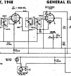 1962 ge radio schematic wiring diagram for you crosley radio vacuum tube schematic receptors ge radio [ 1446 x 639 Pixel ]