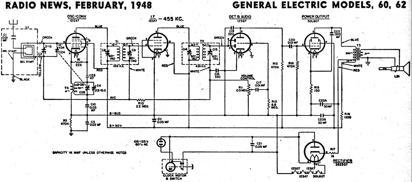 hight resolution of 1962 ge radio schematic wiring diagram for you crosley radio vacuum tube schematic receptors ge radio