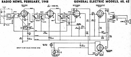 General Electric Models 60, 62 Schematic & Parts List