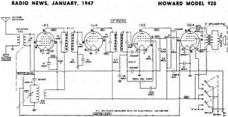 Howard Model 920 Schematic & Parts List Schematic & Parts