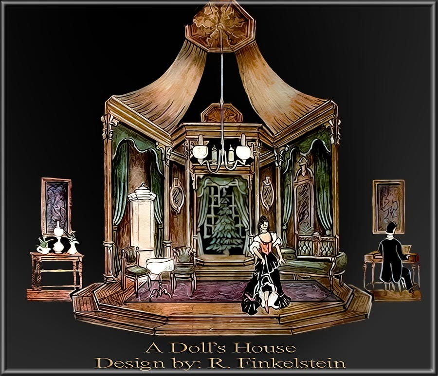 A Dolls Houce By Ibsen Set Design By Richard Finkelstein Stage