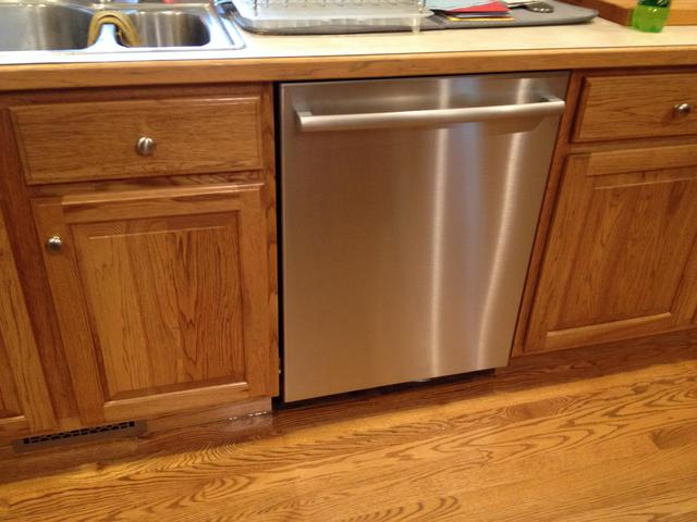 Completely new Dishwasher Flush With Cabinets QJ91