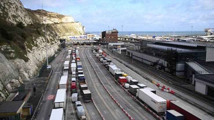 Camioane în portul Dover