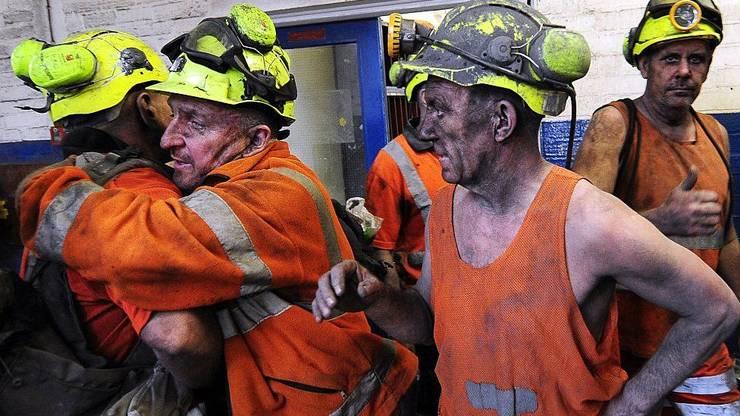 Mineri la Kellingley Colliery, Yorkshire