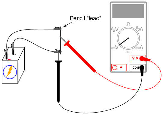 Potentiometer as a voltage divider