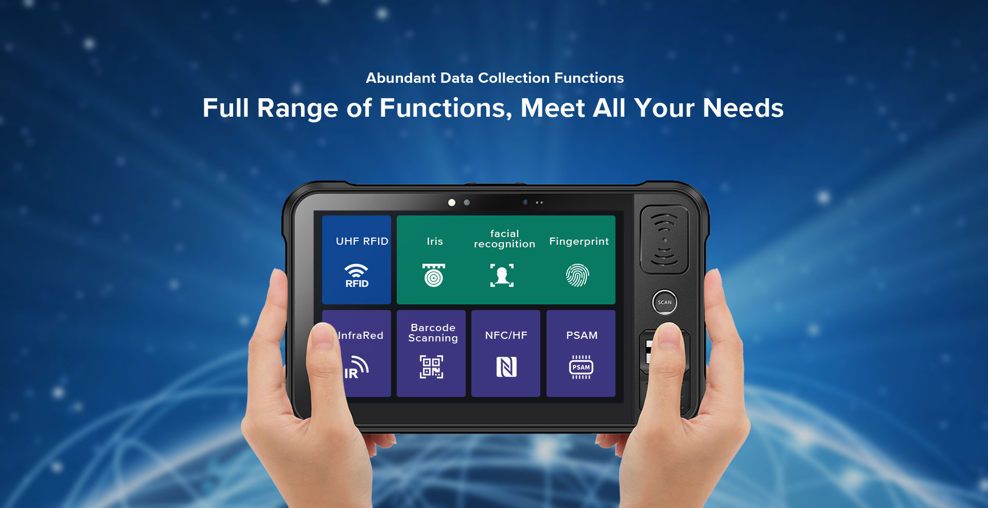 P80 - Android Rugged Tablet by RFID-Global - Data Collection
