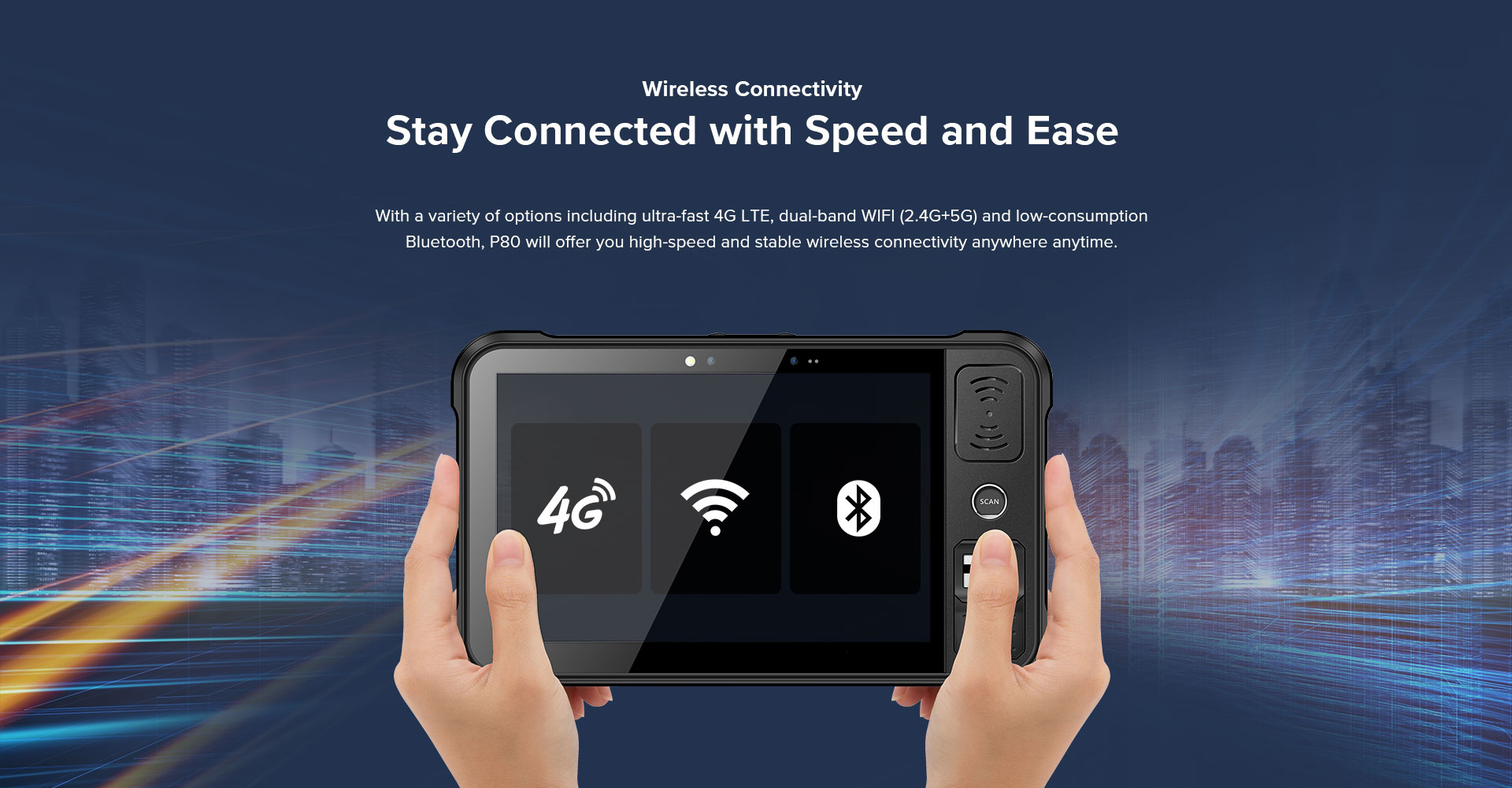 P80 - Android Rugged Tablet by RFID-Global - Connection