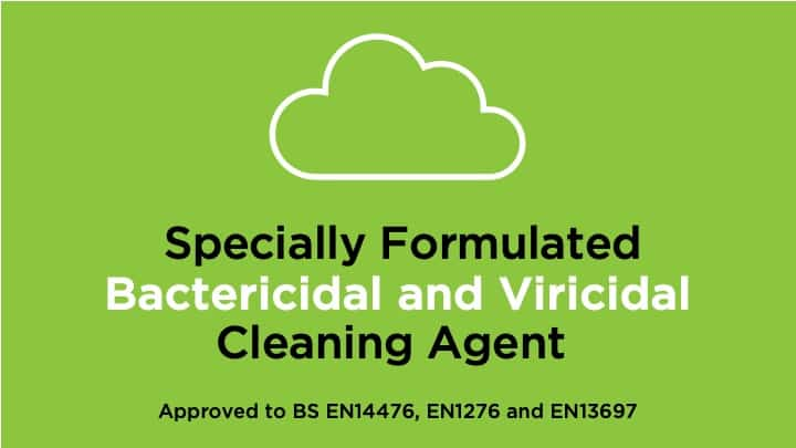 specially formulated Bactericidal and Viricidal cleaning agent