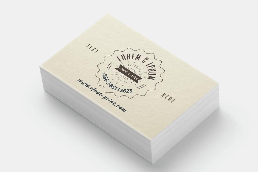 名片設計印刷範例:頂級象牙卡 - 右腳設計印刷 rfoot x print