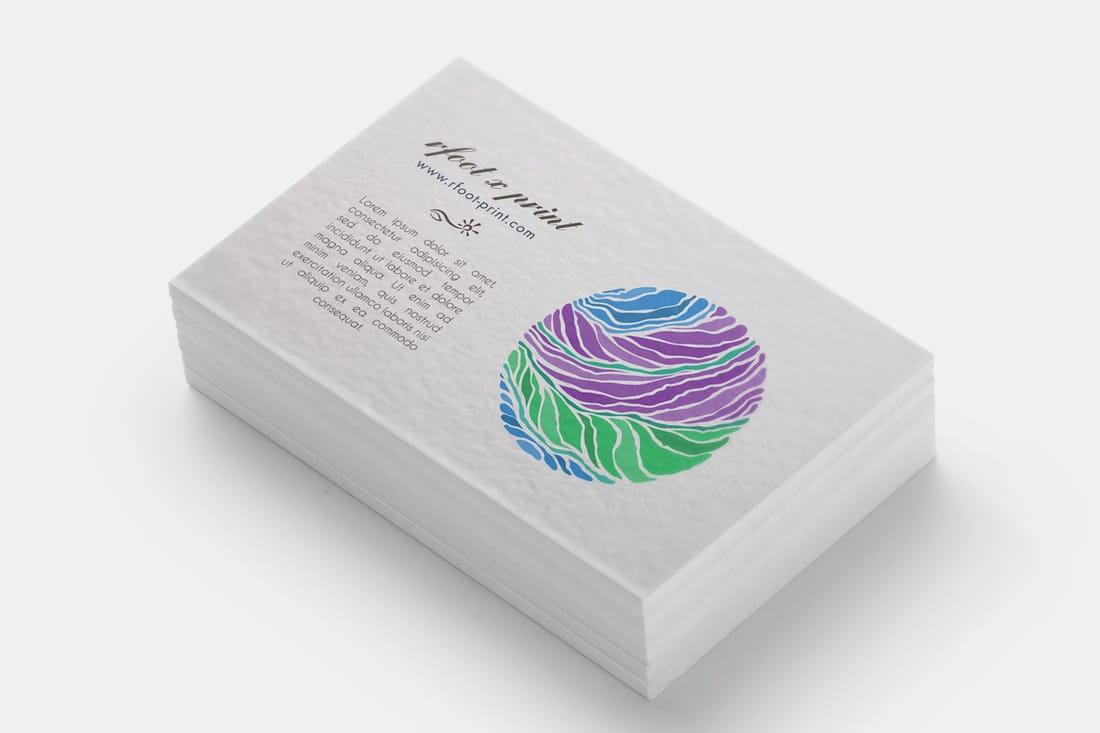 名片設計印刷範例:細波紙 - 右腳設計印刷 rfoot x print