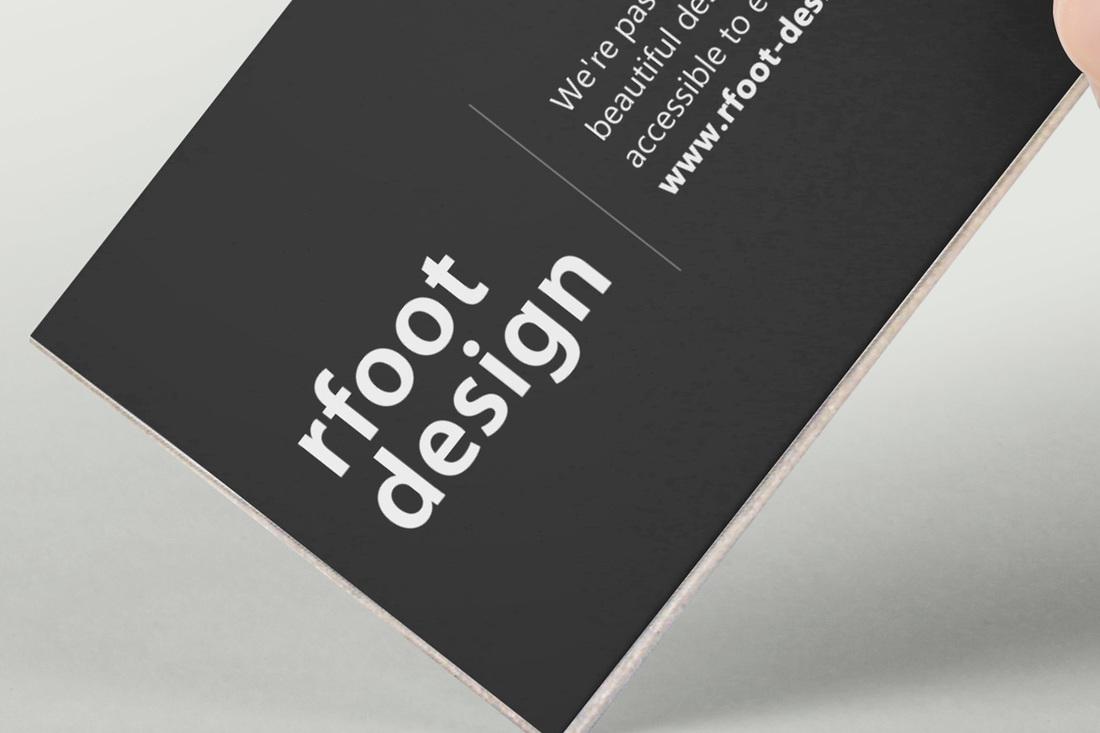 名片設計印刷範例:超厚卡 - 右腳設計印刷 rfoot x print
