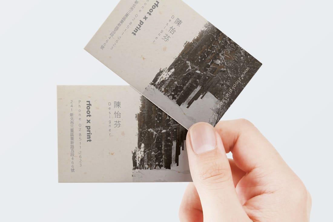 名片設計印刷範例:金陽紙 - 右腳設計印刷 rfoot x print